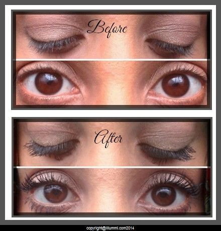 Before and after : Read the review here - http://www.clutteredcloset.co.uk/2014/03/illummi-fibre-lash-extending-mascara-review.html