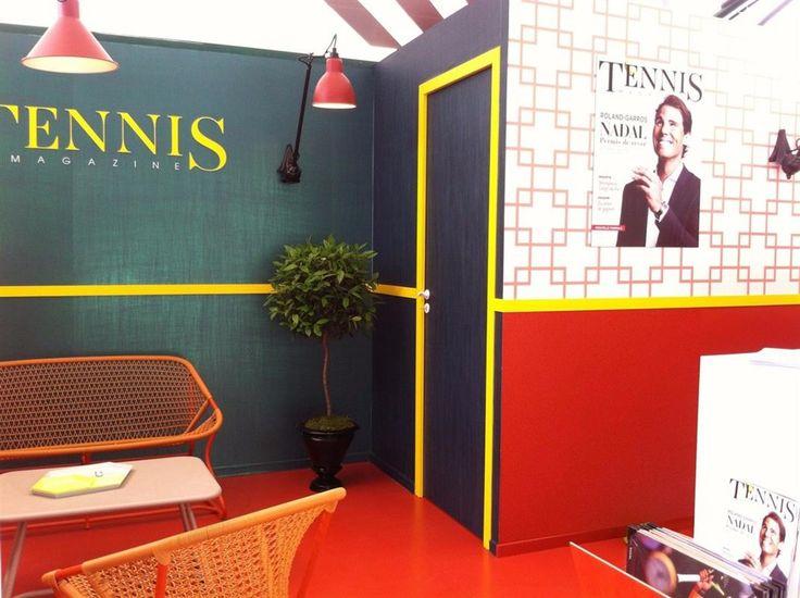 Lors du grand tournoi Roland Garros, Tennis Magazine présente un stand à son image...