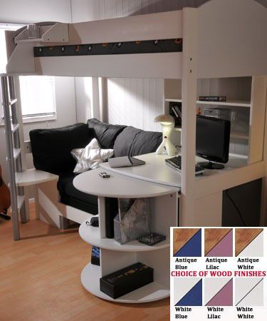 loft beds for college students | College Loft Bed With Desk | Woodworking Project Plans
