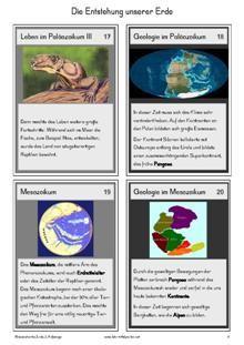 Wissenskartei: Die Anfänge unserer Erde.