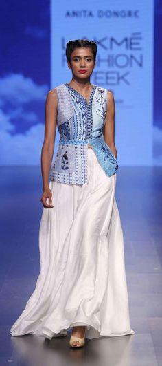 By designer Anita Dongre. Shop for your wedding trousseau, with a personal shopper & stylist in India - Bridelan, visit our website www.bridelan.com #Bridelan #anitadongre #lakmefashionweek