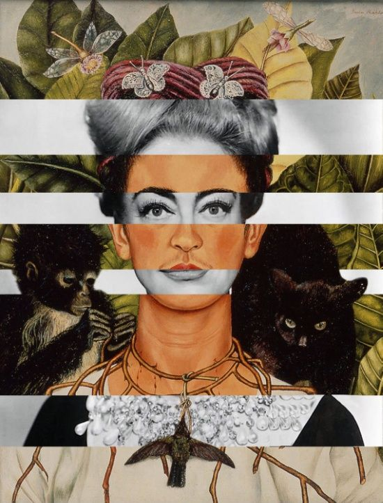 "Frida Kahlo ""Self Portrait"" & Joan Crawford Art Print"