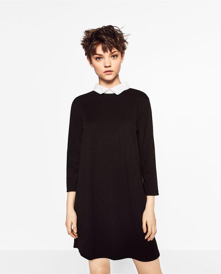 POPLIN COLLAR DRESS-DRESSES-WOMAN-COLLECTION SS/17 | ZARA United States
