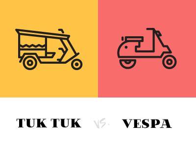 Tuktuk vs. Vespa