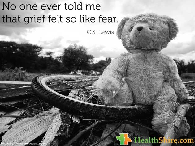 No one ever told me that grief felt so like fear.