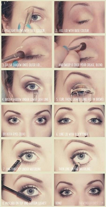 Natural eye makeup makeup. Love it.