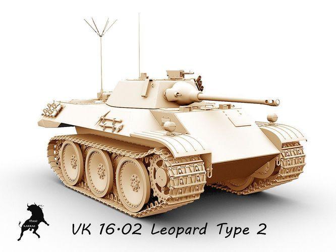 vk  16-02  leopard prototype 2 3d model max obj fbx 7