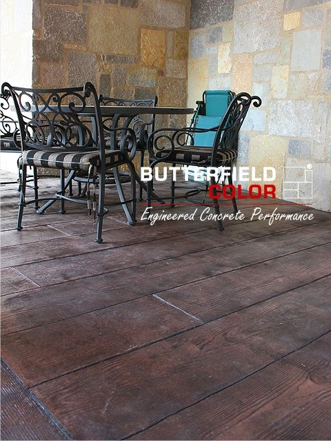 Stamped concrete <3 To extend the patio or not to extend... That is the question.