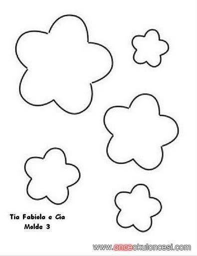 çiçek kalıpları...(çiz,kes,boya) - Önce Okul Öncesi Ekibi Forum Sitesi - Biz Bu İşi Biliyoruz