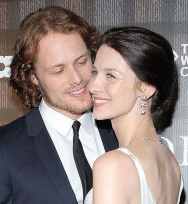 Actors Sam Heughan and Caitriona Balfe attend the 'Outlander' series screening at 92nd Street Y on July 28, 2014 in New York City.