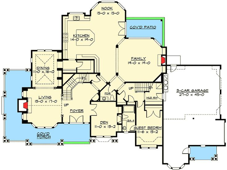 Plan 2387JD Luxury Master Suite With Sitting Room Fireplace