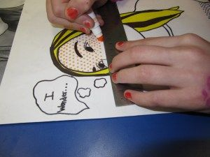 Pop Art Self Portraits from photographs....use ruler to keep the dots in a row