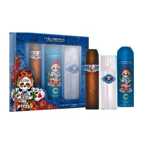 Parfum de France – Coffret pour Homme Cuba Wild Heart – Eau de Toilette Vaporisateur 100 ml + Déodorant + Body Spray 200 ml + Aftershave…