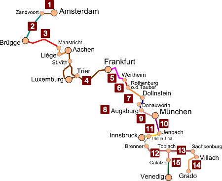 karte europa-express-radroute