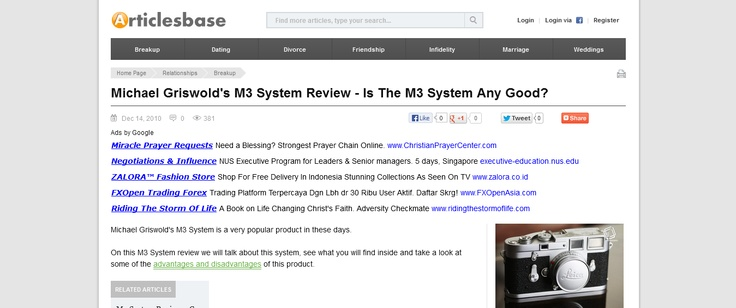Michael Griswolds M3 System Review - Is The M3 System Any Good? --> www.articlesbase.com/breakup-articles/michael-griswolds-m3-system-review-is-the-m3-system-any-good-3846778.html