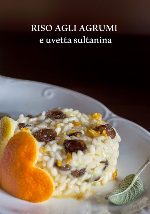 risotto leggero vegano con agrumi e uvetta sultanina