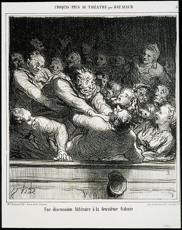 Billedresultat for discussion daumier
