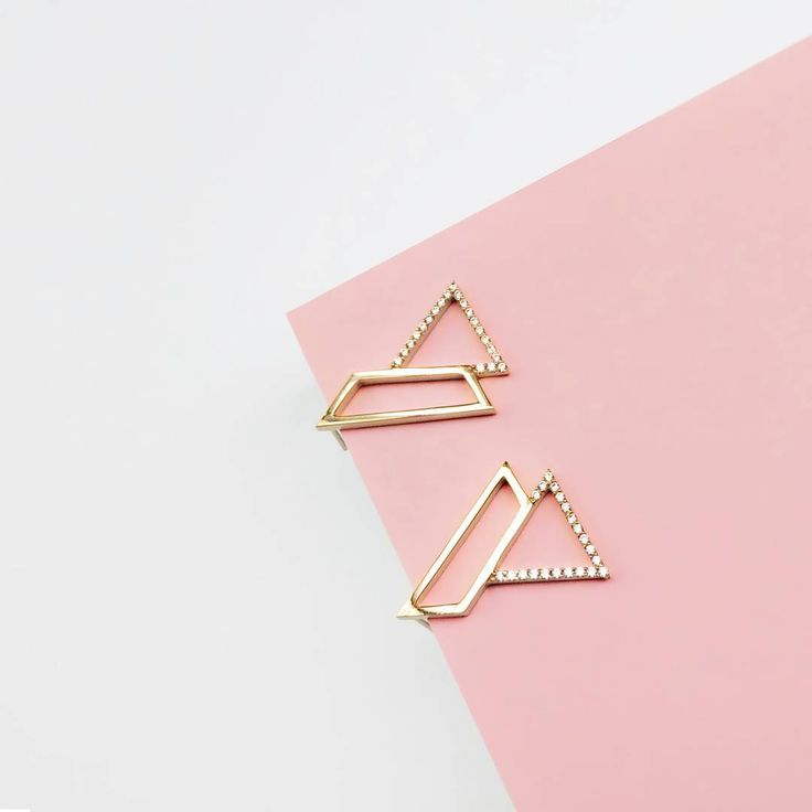 2898ea282 Rose gold Triangle Necklace #jewellery #earring #swarovski #crystals #style    OSYLIA   The CAMPAIGNS   Jewelry, Triangle necklace, Earrings