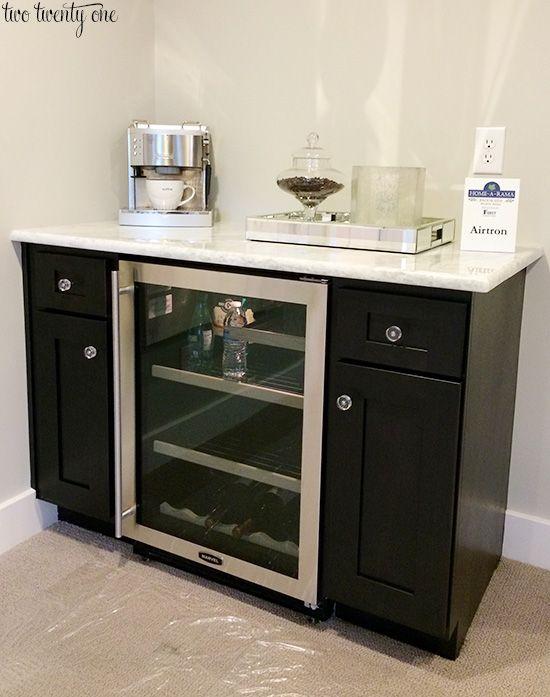 Lovely Bar Cabinet with Wine Fridge
