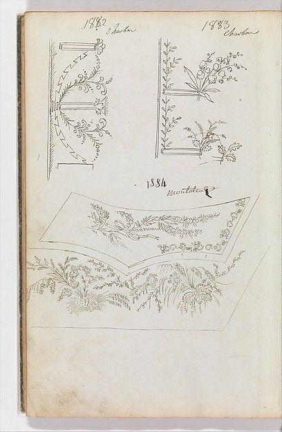 Scrapbook of Designs for Embroidered Waistcoats Designer: Fabrique de Saint Ruf , Lyon Date: (1785) Medium: Pen and ink Dimensions: Overall: 15 3/8 x 10 7/16 in. (39 x 26.5 cm) Classifications: Drawings, Ornament & Architecture Credit Line: The Elisha Whittelsey Collection, The Elisha Whittelsey Fund, 1949 Accession Number: 49.50.206