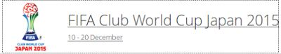 el forero jrvm y todos los bonos de deportes: Campeonato Mundial Clubs Japón 2015: partidos y re...
