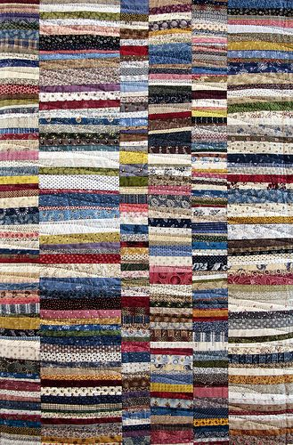 The Festival of Quilts 2009. Easy way to use up scraps....just keep adding on