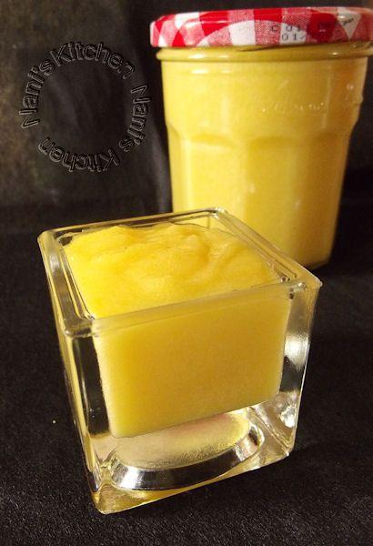J'avais déjà réalisé du Lemon curd au micro ondes et nous avions adoré ! Une orange traînait dans le panier à fruits ... Un pti tour chez mon amie Natt et voilà son destin ! Une merveille !! 100 ml...