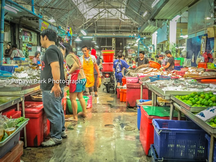 Vegetable market in Hua Hin, Thailand.