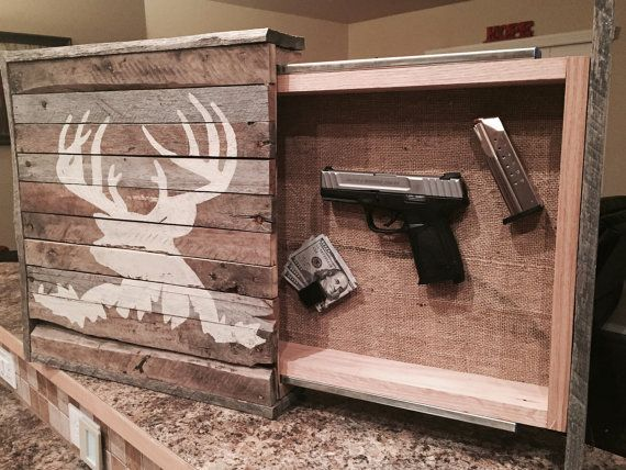 Rustic Wall Art with Hidden Storage by HandyDadWorkshop on Etsy