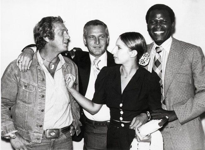 WHOA - Steve McQueen, Paul Newman, Barbra Streisand, and Sidney Poitier, 1972