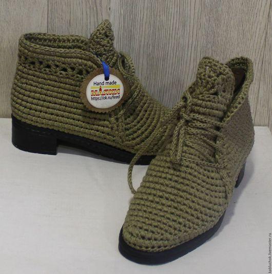 Обувь ручной работы. Вязанные ботиночки