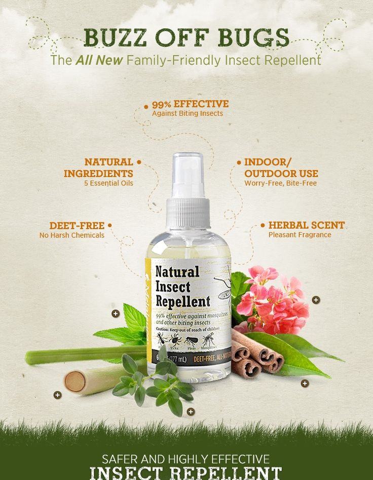 A DEET-free, dermatologist tested insect repellent that uses the power of essential oils to keep bugs at bay