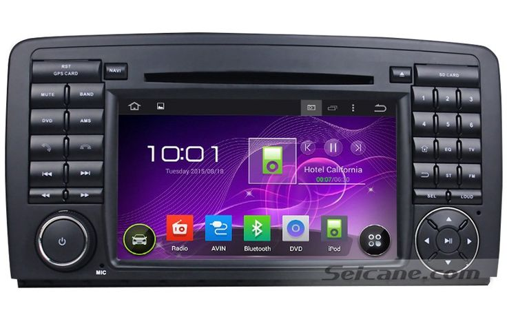 How to skillfully operate a 2006-2014 Mercedes Benz R Class W251 car stereo with GPS DVD player Bluetooth