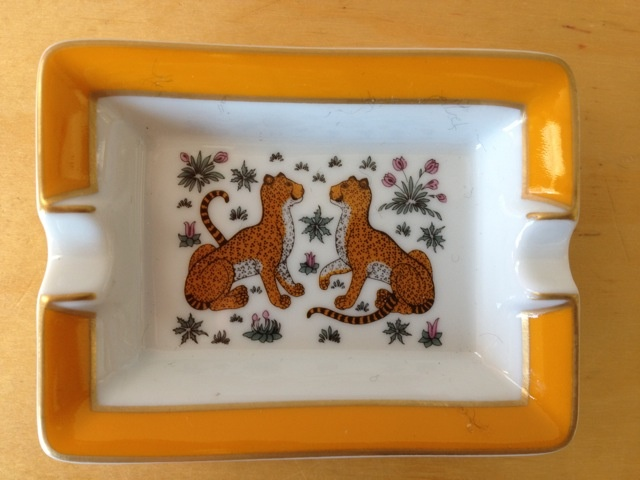 Vintage HERMES Double Leopard Porcelain Ashtray or Jewelry Dish!Leopards Porcelain, Hermes Vintage, Hermes Double, Vintage Fashion, Porcelain Ashtray, Double Leopards, Vintage Hermes, Ash Trays, Jewelry Dishes
