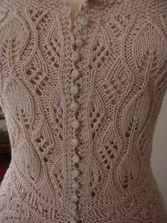 Punto de encaje corsé cubierta blusa antigua por HOLLYANNHESS