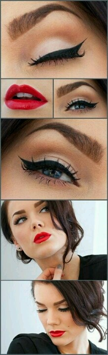 Maquillaje tipo vintage..!*