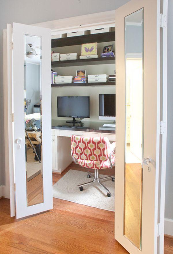 Delightful Inventive Design Ideas For Small Home Offices. Office DesignsOffice  IdeasCloset ... Design