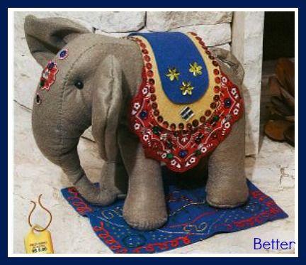 Текстильные фантазии и не только: Индийский слон