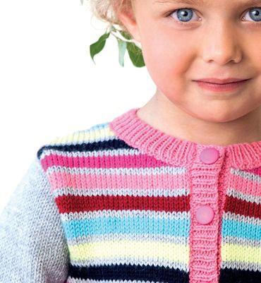 Modèle gilet constraté fille - Modèles Enfant - Phildar