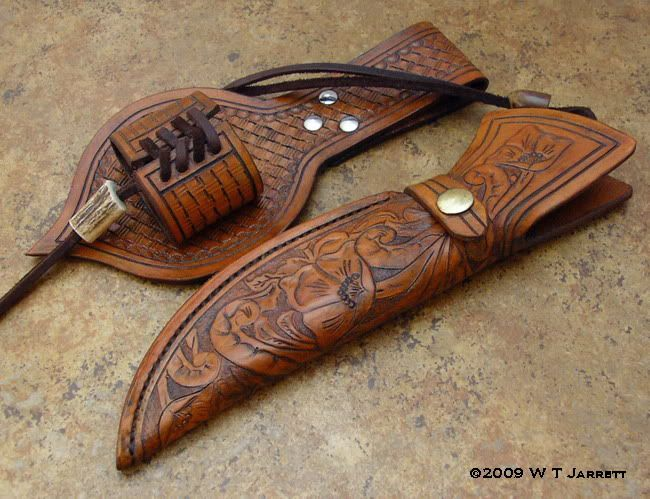 Very Unique Hunter With File Work And Two Piece Sheath