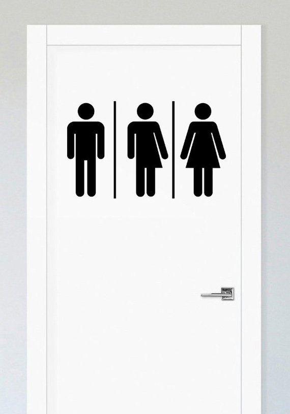 Gender Neutral Bathroom Sign Unisex Restroom Signs Restroom