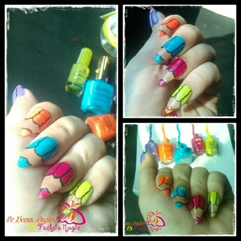 54 best pencil nail art images on pinterest pencil nails nail color pencil nails by fuchsiamagic from nail art gallery prinsesfo Gallery
