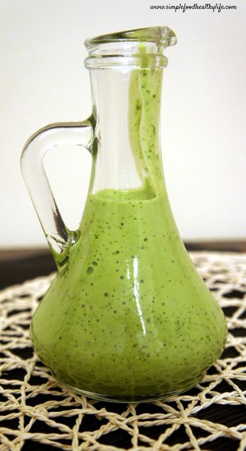 Cilantro Lime Dressing...perfect atop tacos or a mexican salad!