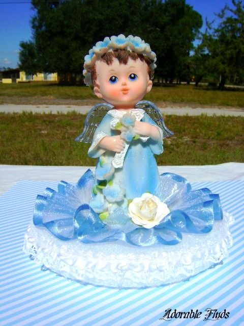 My Little Angel  Blue Light-up Angel Centerpiece