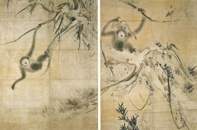 長谷川等伯 重要文化財「枯木猿猴図」 京都・龍泉庵蔵