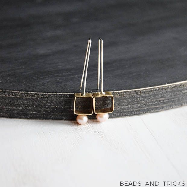 Red brass, silver and freshwater pearls | Handmade by Beads and Tricks