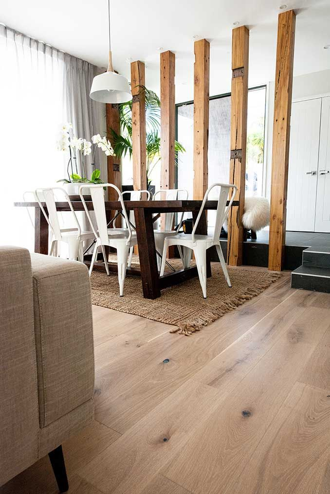 Floors from 'The Block' | Godfrey Hirst New Zealand | Jo and Damo | Get the look with Regal Oak in Doulton #godfreyhirstnz #theblock #theblocknz #timber #oak #flooring #floors