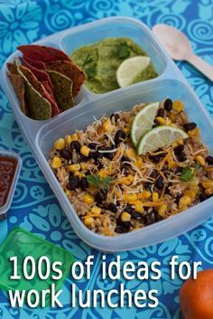 Pack lunch for work in /easylunchboxes/. 100s of meal ideas.