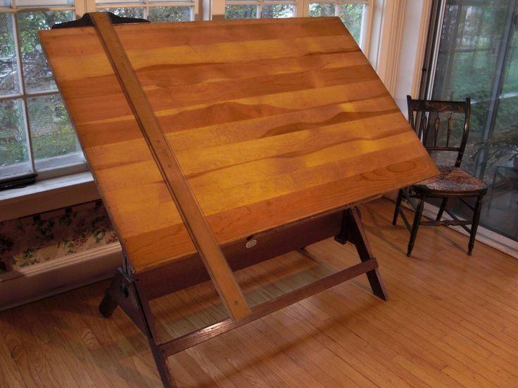 Vintage Drafting Table Anco Bilt Standing Desk Antique Craft Art