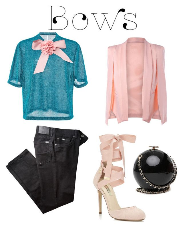 """Bows"" by elenazaharia on Polyvore featuring Alcoolique, BRAX and Miss Selfridge"